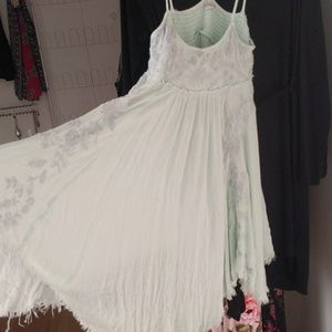 Free people mint mini dress/tunic size M